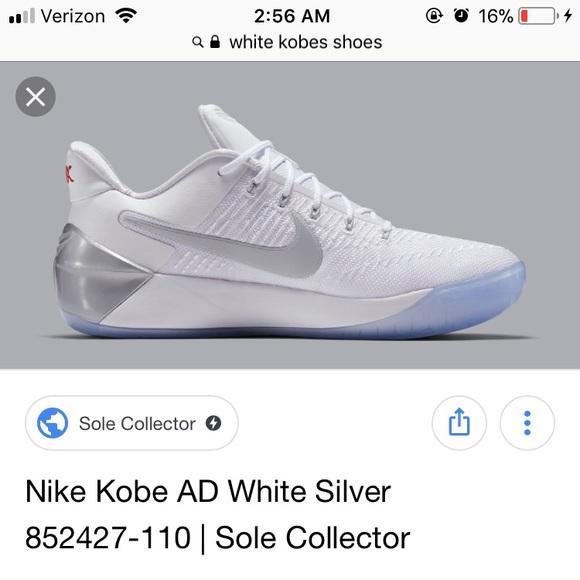 White Kobe Basketball Shoesiso   Poshmark